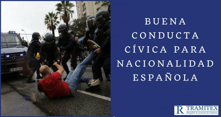 Buena conducta cívica para nacionalidad española