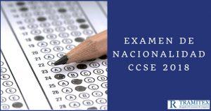 Examen de Nacionalidad CCSE 2018