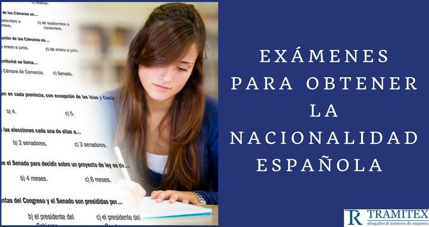 Exámenes para obtener la nacionalidad española