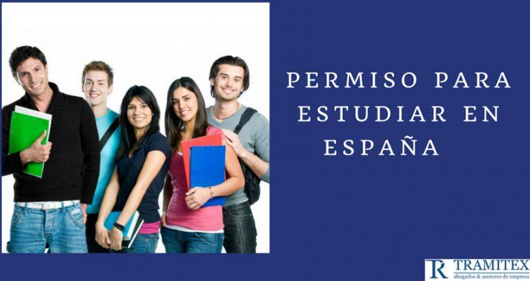 Permiso para estudiar en España