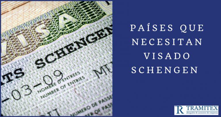 Países que necesitan visado Schengen