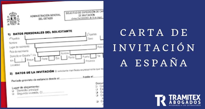Carta de invitación a España