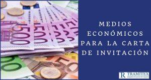 Medios económicos para la carta de invitación