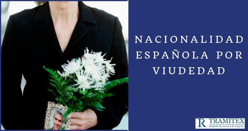 Nacionalidad española por viudedad