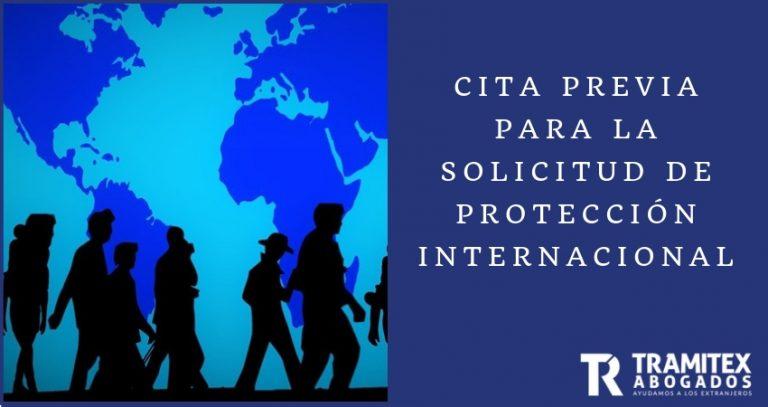 Cita previa para la solicitud de Protección Internacional