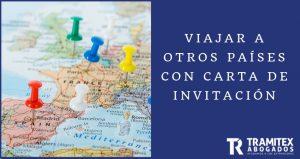 Viajar a otros países con Carta de Invitación